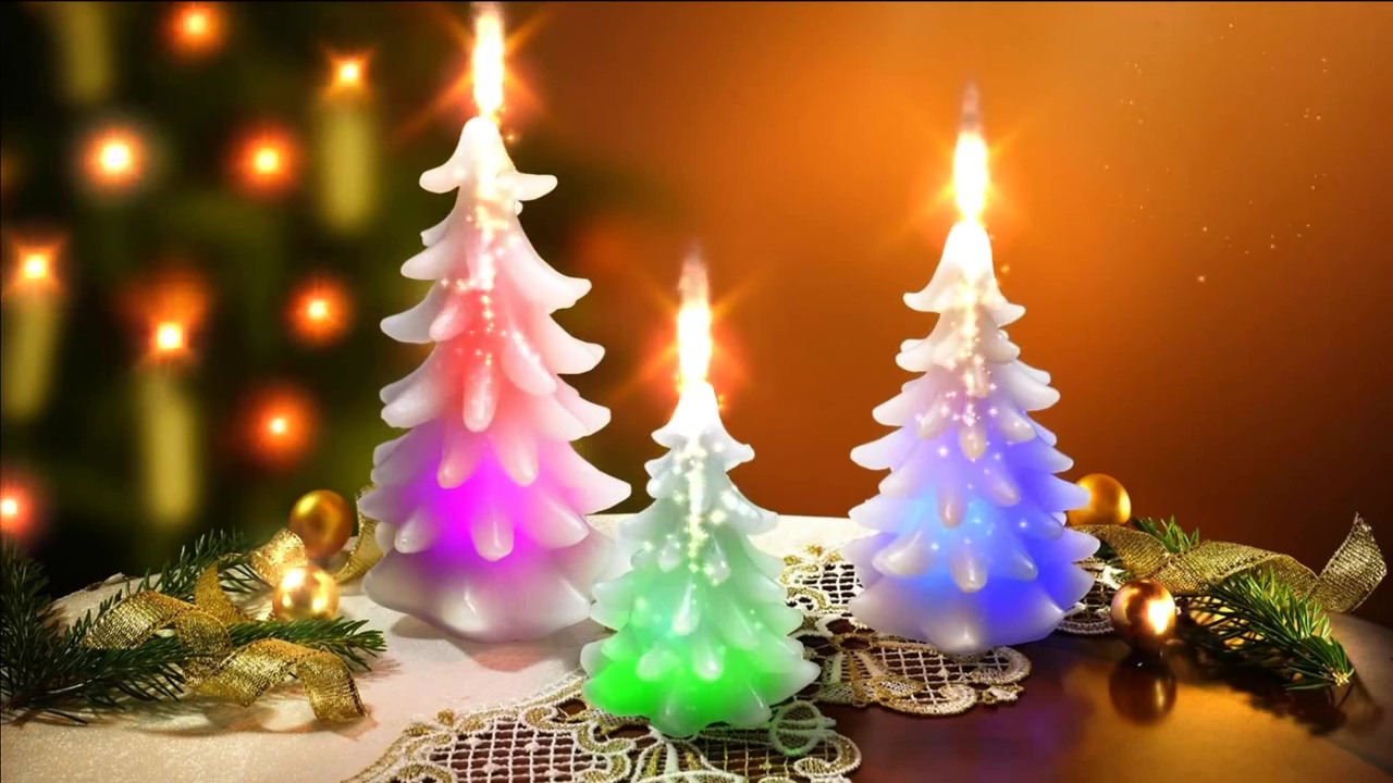 purchase christmas candle video for background ecards text