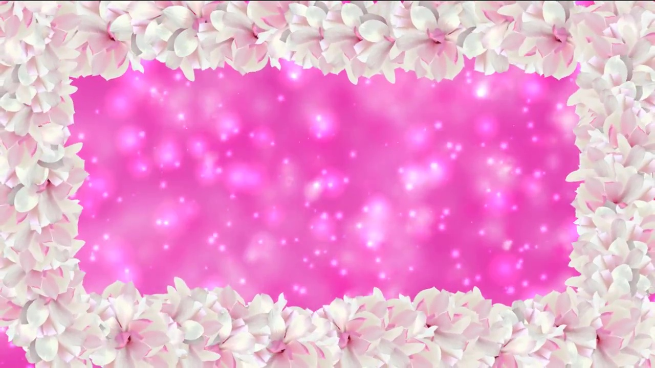 Animated frame. Video background frame with Flowers.