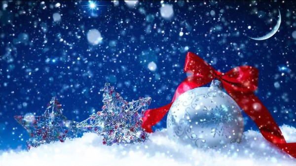 Buy christmas video with falling snow
