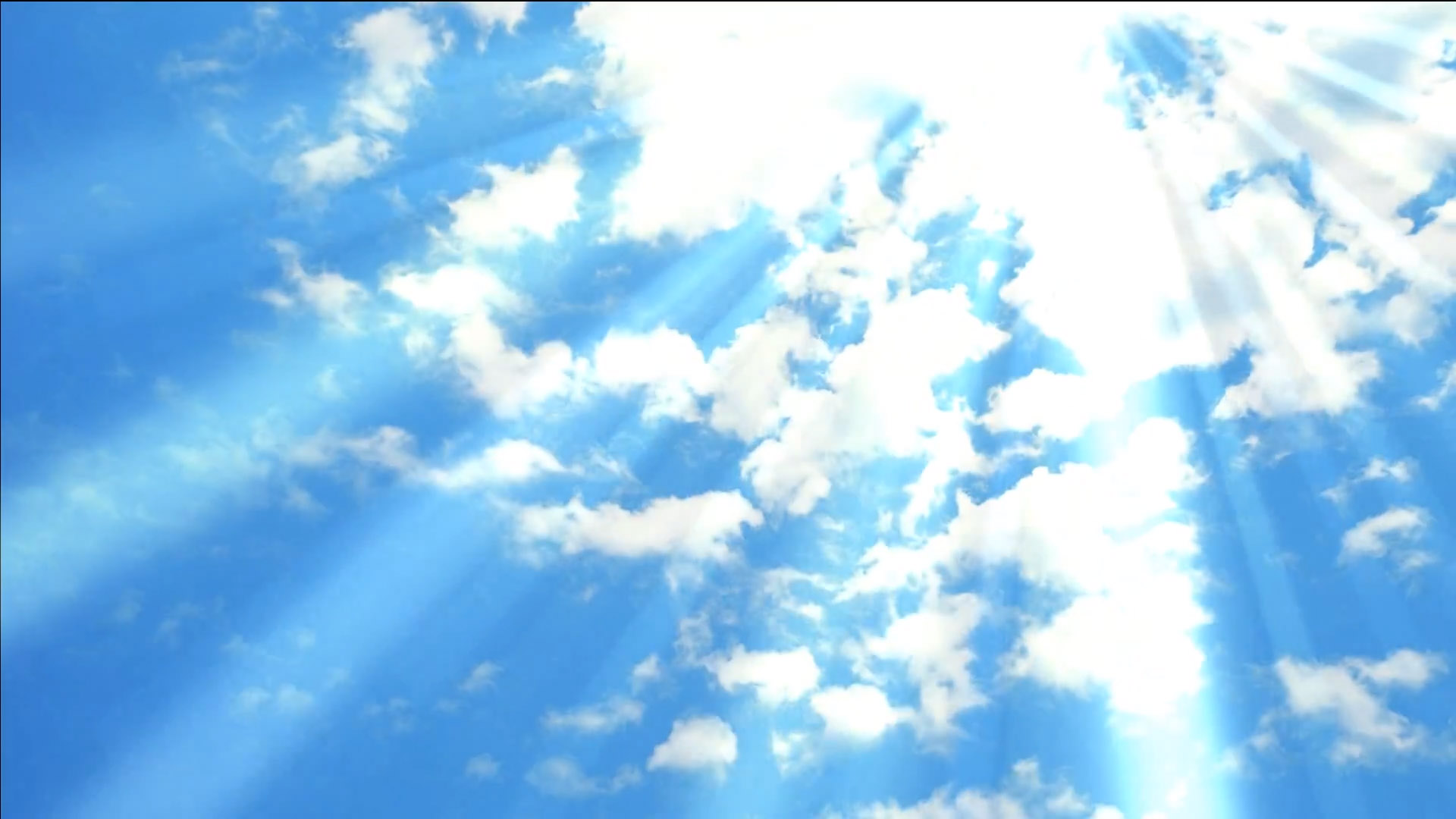 Animated Sun Shining Light On Blue Sky