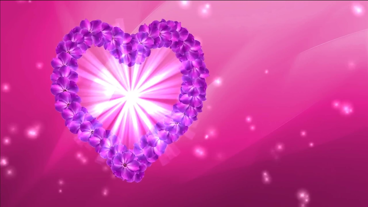 Purchase video animated flowers heart for wedding films buy flowers hearts video mightylinksfo