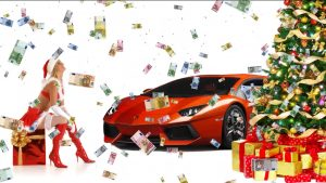 Buy Footage Christmas HD The girl auto snow money