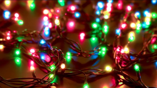 Buy Garland christmas video background