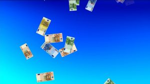 Buy Money Euro falling video background