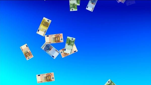 Buy Money Euro falling video background