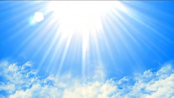 Buy Sun shining lights video on blue sky