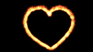 Buy fire heart background