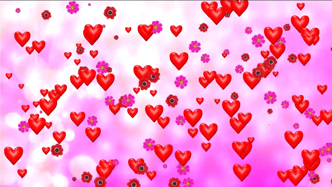 Buy Wedding Hearts Video Background With Animated Pink Background