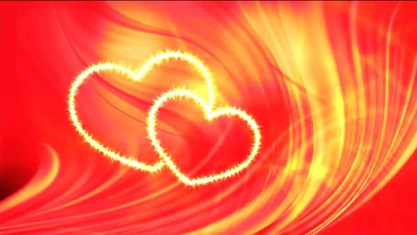 Buy two hearts video background