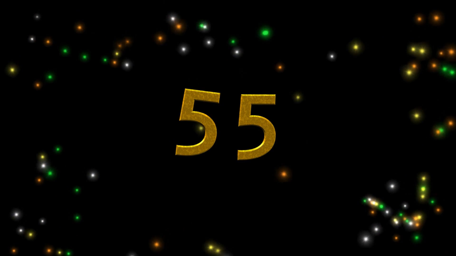 Buy Happy 55 Years Anniversary With Fireworks For Intro